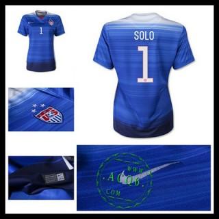 Camisa Futebol Estados Unidos (1 Solo) 2015 2016 Ii Feminina