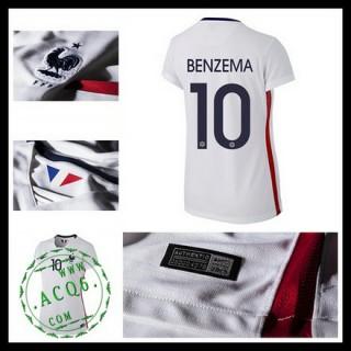 Camisas (10 Benzema) França Autêntico Ii Euro 2016 Feminina