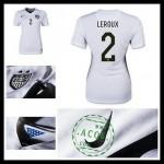 Camisas Du Futebol Estados Unidos (2 Leroux) 2015 2016 I Feminina