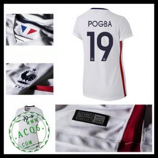 Camisas Futebol (19 Pogba) França Autêntico Ii Euro 2016 Feminina