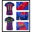 Comprou Uniforme De Futebol Nermay Jr Barcelona Feminina 2016 2017 I Loja On-Line