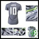 Camisa Futebol Real Madrid (10 James) 2015/2016 Ii Feminina