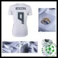Camisa Du Futebol Real Madrid (9 Benzema) 2015-2016 I Feminina