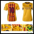Camisa Futebol Barcelona (10 Messi) 2015 2016 Ii Feminina