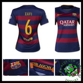 Camisas Barcelona (6 Xavi) 2015 2016 I Feminina