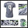 Camisas Du Futebol Real Madrid (9 Benzema) 2015 2016 Ii Feminina