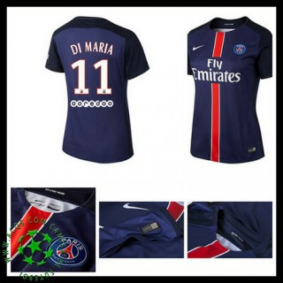 Camisas De Futebol Paris Saint Germain Di Maria 2015 2016 I Feminina