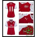 Uniforme Futebol Arsenal Ozil 2016 2017 I Feminina