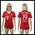 Bayern München Camisa Futebol Gotze 2015/2016 I Feminina
