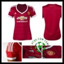 Camisas De Futebol Manchester United 2015 2016 I Feminina