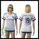 Chelsea Camisas Futebol Diego Costa 2015-2016 Ii Feminina