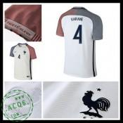 Camisa De Futebol França Varane Euro 2016/2017 Ii Masculina