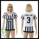 Juventus Camisa Futebol Chiellini 2015-2016 I Feminina