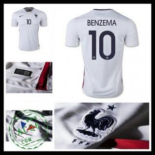 Camisa De Futebol (10 Benzema) França Autêntico Ii Euro 2016 Masculina