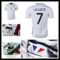 Camisas De Futebol (7 Lacazette) França Autêntico Ii Euro 2016 Masculina