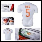 Camisa Futebol Holanda (5 Blind) 2015/2016 Ii Masculina