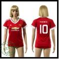 Manchester United Camisa Du Futebol Rooney 2015 2016 I Feminina