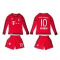 Bayern München Uniforme Futebol Robben Manga Longa 2015/2016 I Infantil