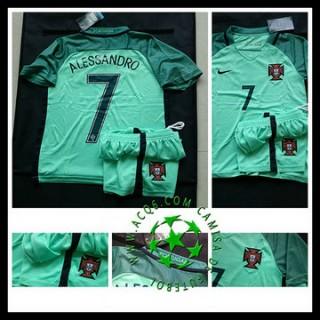Todo Camisa Futebol Ronaldo Portugal Infantil 2016-2017 Ii Loja On-Line