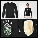 Camisa Futebol Alemanha Autêntico I Manga Longa Goleiro Euro 2016 Infantil