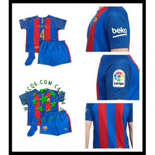Comprou Uniforme De Futebol I. Rakitic Barcelona Infantil 2016-2017 I Mais Barato Online