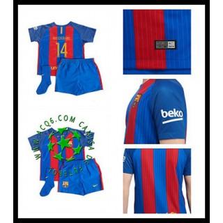 Make Her Uniforme De Futebol Mascherano Barcelona Infantil 2016/2017 I Mais Barato Online