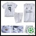 Camisas De Futebol Real Madrid (9 Benzema) 2015/2016 I Infantil