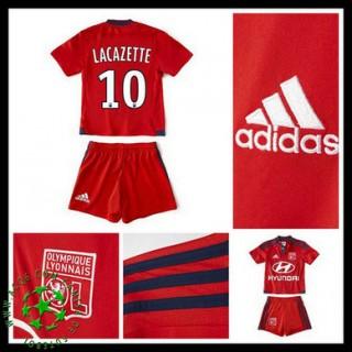 Camisas De Futebol Olympique Lyonnais Lacazette 2015-2016 Ii Infantil