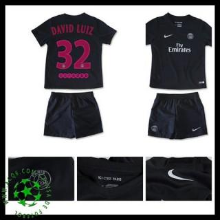 Camisas De Futebol Paris Saint Germain David Luiz 2015/2016 Iii Infantil