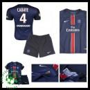 Camisa De Futebol Paris Saint Germain Cabaye 2015/2016 I Infantil
