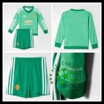 Uniforme De Futebol Manchester United Manga Longa Goleiro 2015-2016 I Infantil