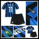 Camisas Futebol Inter De Milão (11 Podolski) 2015/2016 I Infantil