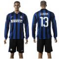 Inter Milan Camisa Du Futebol Guarin Manga Longa 2015 2016 I Masculina