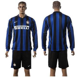 Inter Milan Uniforme Futebol Manga Longa 2015-2016 I Masculina