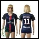 Psg Camisas Futebol Di Maria 2015/2016 I Feminina
