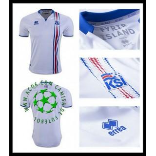 Um Rebanho Camisetas Islândia Masculina Euro 2016/2017 Ii Loja On-Line