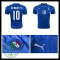 Camisas Futebol (10 Verratti) Itália Autêntico I Euro 2016 Masculina