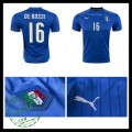 Camisas Futebol (16 De Rossi) Itália Autêntico I Euro 2016 Masculina