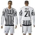 Juventus Camisa Futebol Pirlo Manga Longa 2015 2016 I Masculina