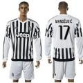 Juventus Camisas De Futebol Mandzukic Manga Longa 2015 2016 I Masculina