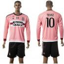 Juventus Camisas De Futebol Tevez Manga Longa 2015/2016 Ii Masculina