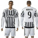 Juventus Camisas Du Futebol Morata Manga Longa 2015-2016 I Masculina