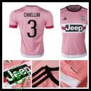 Uniformes De Futebol Juventus (3 Chiellini) 2015-2016 Ii Masculina