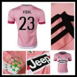 Camisas Futebol Juventus (23 Vidal) 2015/2016 Ii Masculina