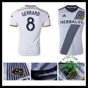 Camisas De Futebol La Galaxy (8 Gerrard) 2015 2016 I Masculina
