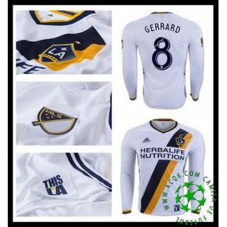 Comprar Camisas De Futebol Manga Longa Gerrard La Galaxy Masculina 2016/2017 I On-Line