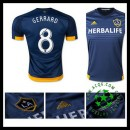 Camisas Futebol La Galaxy (8 Gerrard) 2015/2016 Ii Masculina