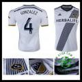 Camisas Du Futebol La Galaxy (4 Gonzalez) 2015-2016 I Masculina