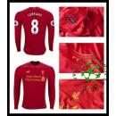 Camisa Futebol Liverpool Gerrard Manga Longa 2016-2017 I Masculina