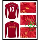 Camisas Futebol Liverpool Coutinho Manga Longa 2016-2017 I Masculina